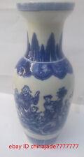 Antique style Chinese Blue and white porcelain Baxianguohai Qianlong vase