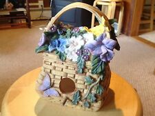 "New serenity Garden 2003 Birdhouse.  Looks like a basket with flowers.  1.25"" ho"