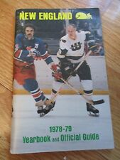 1978-79 NEW ENGLAND WHALERS Media Guide RICK LEY Marty GORDIE HOWE Mark KEON