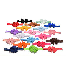 20 Pcs/lot Girl Hair Bow Headband Elastic Hair Bands Newborn Infant Toddler USTO