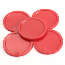 5Pcs Air Hockey Table Pucks 50mm Puck Children Table Red 2-inch  Mini