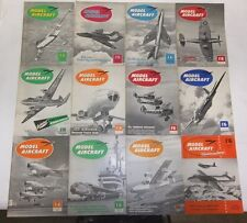 Lot of 12 Vintage Model Aircraft Magazines 1956