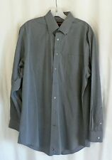 Nordstrom Dress Shirt Size 15 1/2 34 Gray 100% Cotton Smartcare Long Sleeve