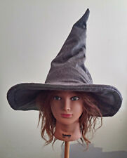 Adult size Halloween wool witch or sorcerer hat Gray large size costume Gandolf