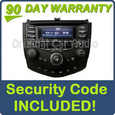 04 05 06 07 HONDA Accord Radio Stereo 6 Disc Changer CD Player 7BK1 Temp Control