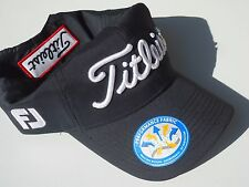 """NEW! Black-White Accents Titleist Men-Women's PRO-V1 UV Cap """"fJ"""" Golf Hat"""