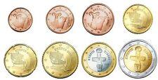 1Cent - 2Euro Kursmünzen 2015 Zypern lose