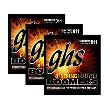 3-Pack GHS GBH-8 Boomers 8-String Heavy Electric Guitar Strings (11-85)