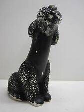 VINTAGE BLACK POODLE CHALK DOG