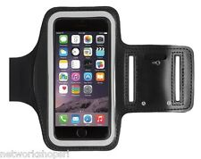 CUSTODIA FASCIA DA BRACCIO SPORT ARMBAND NERO 13,5x7cm PER APPLE IPHONE 6