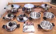 14pc HEALTH CRAFT Waterless Cookware Elec Skillet 5 Ply T304 Surgical Stainless
