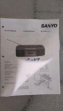 sanyo m 7034 Service Manual Original Factory Repair book boombox ghettoblaster