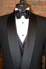 MENS SIZE 34 S  SLIM FIT BLACK DOUBLE BREAST SHAWL DINNER JACKET BREASTED TUXEDO