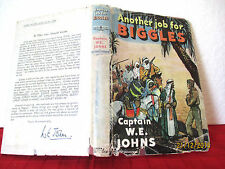BIGGLES  Another Job for Biggles 1951  HCDJ W.E. Johns illus by Stead