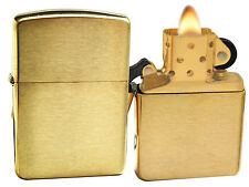 Zippo Lighter 168 Armor Brushed Brass Windproof NEW