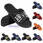 NFL teams 2016 Men's stripe shower slide flip flops