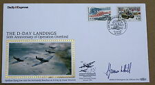 D DAY 50TH ANNIV 1994 BENHAM COVER BAYEUX H/S SIGNED BY BRIGADIER JAMES LEDGER