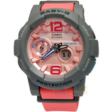 Casio Baby-G G-lide Tide Graph Thermometer Peach and Gray Resin Watch BGA180-4B2