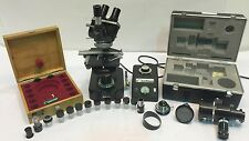 NIKON MICROSCOPE 69156 W/ TRANSFORMER, OCULAR LENS & OBJECTIVE LENS, ACCESSORIES