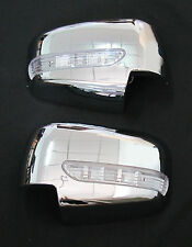 MITSUBISHI L200 TRITON PAJERO CHROME MIRROR COVER BLUE ORANGE LED 05 06 07 08 10