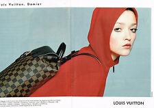 PUBLICITE ADVERTISING 094  1998  LOUIS VUITTON  sac maroquinerie DAMIER ( 2p)