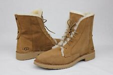 UGG AUSTRALIA QUINCY CHESTNUT SUEDE SHEEPSKIN CASUAL ANKLE SNEAKER SIZE 8 US