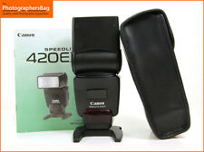 Canon EF 420ex Speedlite Flash Flashgun & Case + Free UK Postage
