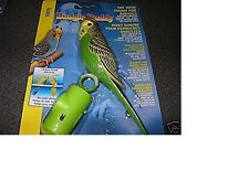 Hagen Budgie Buddy Toy with Sound  - motion sensor activated - Green Parakeet