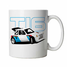 205 T16 Classic Group B Rally Car Mug - Gift Dad, Fathers Day