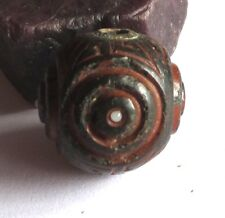 """RARE GORGEOUS OLD LARGE JAPANESE """"OJIME"""" ANTIQUE BEAD 19mm x 19mm"""