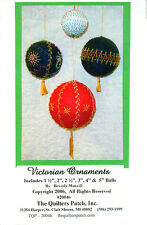 """Quilters Patch Piecing/Embroidery/Beading Pattern TQP-20046 """"Victorian Ornaments"""