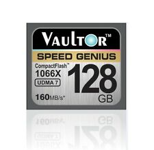 NEW VAULTOR EXTREME SPEED 128GB 1066X CF COMPACT FLASH MEMORY CARD - 160MB/S