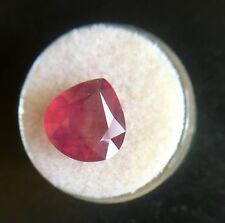 Huge NATURAL Ruby 8.18ct Deep Red Pear Cut Gem Jewellery Stone