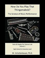 How Do You Play That Thingamabob? the Science of Music Performance: Volume 1...