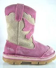 NAARTJIE~PINK/PURPLE & GRAY SUEDE BOOTS~COWGIRL/WESTERN~KIDS/GIRLS/YOUTH SIZE 8