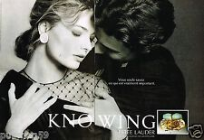 Publicité advertising 1991 (2 pages) Parfum Knowing Estée Lauder par A.Elgort