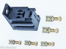 Sockel f. Kfz - Micro Relais inkl. 5 Flachsteckhülsen anreihb. Relaissockel Auto