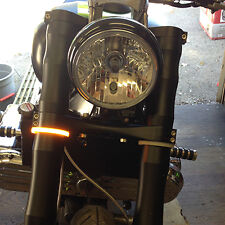 Snap-On LED Front Turn Signals (50mm Forks - Amber)