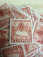 100 USED STAMPS #976 3C FORT BLISS / ROCKET
