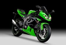2 COLOUR KAWASAKI TOUCH UP PAINT KIT 2012 - 13 ZX6R GREEN & METALLIC SPARK BLACK