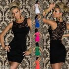 555 SEXY STUNNING CLUBBING PARTY EVENING BODYCON STRETCH LACE MINI DRESS UK 8 10