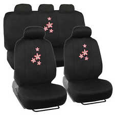 9 piece Floral Exquisite Car Seat Cover Full Set Front and Rear - Car Van Suv