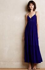 $345 Anthropologie Cascata Silk Maxi Dress Twelfth St Cynthia Vincent M P