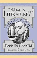 """What is Literature?"" and Other Essays by Sartre, Jean-Paul"