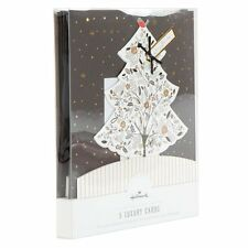 Hallmark Deluxe Pop-up 3d Christmas Tree Cards -5 per box & Envelopes RRP£12.95