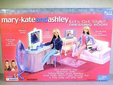 NIB BARBIE DOLL SIZE 2002 MARY-KATE AND ASHLEY LETS GET STYLIN' DRESSING ROOM