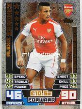 Match Attax 2014/15 Premier League - #002 Alexis Sanchez - Bronze Limited Editio