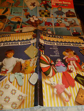 2 VINTAGE PATONS KNITTING/CROCHET BAZAAR ITEMS PATTERNS BOOKLETS TOYS/GIFTS ETC