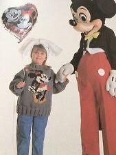 Disney Minnie Mouse, Thumper, Donald Duck, WhIte Rabbit Jumper Knitting Pattern