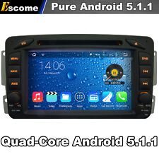Quad Core Android 5.1.1 Car DVD Radio GPS Mercedes Benz W203 W208 W209 W210 W463
